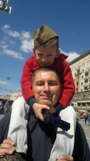 Болотников Дмитрий с папой на 9 мая