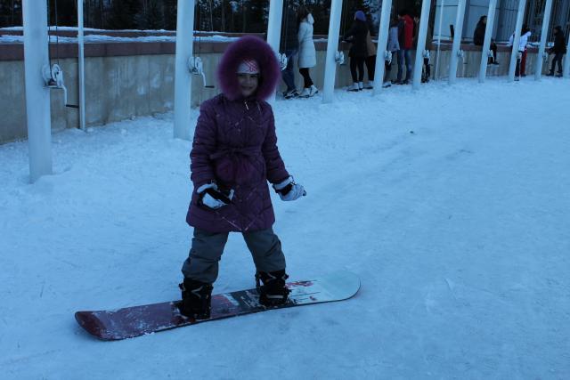 Освоила лыжи, перехожу на доску.